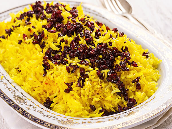 Traditional Persian Saffron Rice