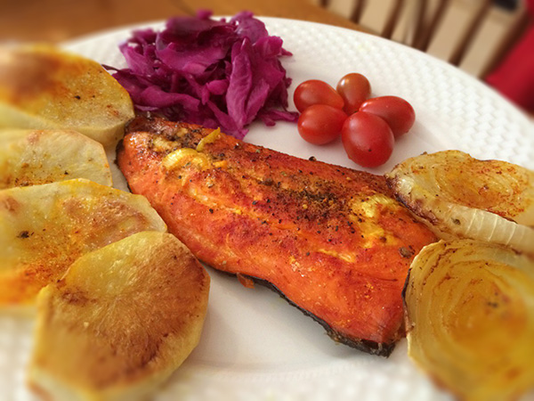 Grilled Salmon with Saffron