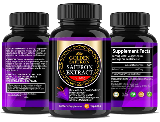 Golden Saffron Extract Appetite Suppression Supplement